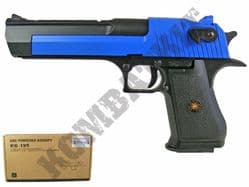 HG195 Airsoft Pistol Desert Eagle Replica Gas Blowback Bb Gun Black & 2 Tone