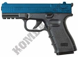 ISSC M-22 Official Replica Pistol Co2 Gas Blowback Airsoft BB Gun 2 Tone Black Blue Metal Slide