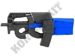 JG-P98-1 FN P90 SMG Replica AEG Electric Airsoft BB Machine Gun Black 2 Tone Black + Stanag