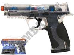 M&P40 Pistol Smith & Wesson CO2 Powered Airsoft BB Gun 2 Tone Black Clear