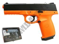 M27 BB Gun HK45 Replica Spring Airsoft Pistol Orange Black 2Tone