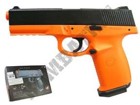M27 BB Gun | HK45 style BB pistol | Orange two tone cheap airsoft guns uk | KOMBATKIT