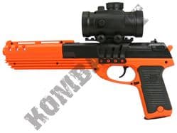 M39 Airsoft BB Gun Black and Orange