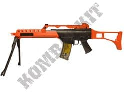 M41K2 G36 Style Airsoft BB Gun with folding bipod Black and Orange