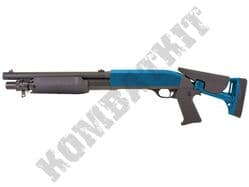M56C Airsoft Shotgun Franchi SAS Replica Tri Shot Spring Pump Action BB Gun Black 2 Tone