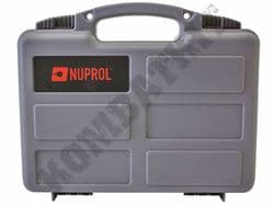 Nuprol Hard Case Grey Resin for Airgun Pistol Airsoft BB Guns Lockable Wave Foam Liner 31x21cm