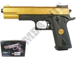 P169 BB Gun 1911 45 ACP Replica Spring Airsoft Pistol Black Gold 2 Tone