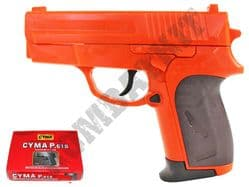 P618 BB Gun Sig Sauer Compact Replica Spring Pistol 2 Tone Orange Black
