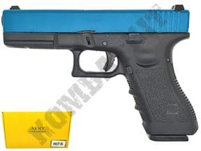 R17-5 BB Gun | Glock Replica Gas Blowback Airsoft Pistol 2 Tone Colours | KOMBATKIT SHOP