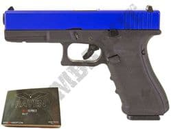Raven EU17 Airsoft Pistol Glock G17 Replica Gas Blowback BB Gun Black 2 Tone