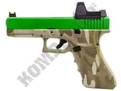 Raven EU17 Airsoft Pistol Glock G17 Replica Gas Blowback BB Gun Multicam 2 Tone + BDS