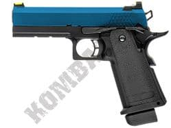 Raven Hi-Capa 4.3 Airsoft Pistol Gas Blowback BB Gun Black 2 Tone Metal Slide