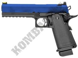 Raven Hi Capa 5.1 Airsoft Pistol Gas Blowback BB Gun Black 2 Tone Metal Slide