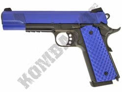 Raven MEU Railed Airsoft Pistol Colt M1911 Replica Gas Blowback BB Gun Black 2 Tone Metal