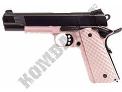 Raven MEU Railed Airsoft Pistol Colt M1911 Replica Gas Blowback BB Gun Pink 2 Tone Metal