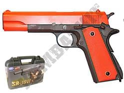 SR1911 Metal Gas Blowback Airsoft BB Gun Black and Orange