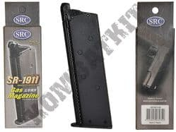 SRC SR1911-M Airsoft Gun Magazine Green Gas 1911 Handgun GBB Black Metal