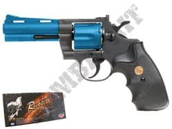 "UG138 BB Gun Colt Python Revolver Replica Gas Airsoft Pistol Black & 2 Tone 4"" Barrel"