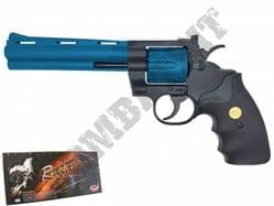 "UG139 BB Gun Python 357 Revolver Replica Gas Airsoft Pistol Black & 2 Tone 6"" Barrel"