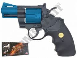 "UG142 BB Gun Colt Python Revolver Replica Gas Airsoft Pistol Black & 2 Tone 2.5"" Barrel"