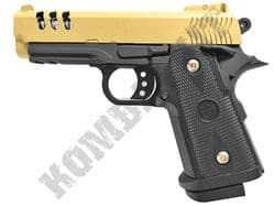 V15 Metal BB Gun S&W Replica 1911 45ACP Spring Airsoft Pistol Gold Black 2 Tone