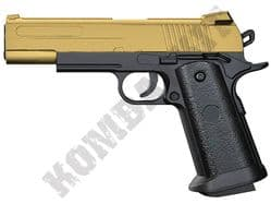 V18 Metal BB Gun Sig Sauer Custom 1911 Replica Spring Airsoft Pistol Gold Black 2 Tone