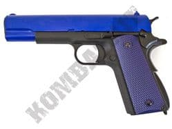 WE 1911 A Airsoft  Pistol Colt Replica Gas Blowback BB Gun Black 2 Tone Metal