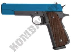 WE 1911A Hi Capa Airsoft Pistol Gas Blowback BB Gun Black 2 Tone Metal