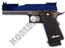 WE 5.1 Dragon Metal Pistol Gas Blowback Airsoft BB Gun 2 Tone Blue Black