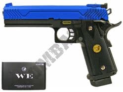 WE 5.1M Metal Gas Blowback Airsoft BB Gun Black and Blue