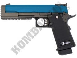 WE 5.2R Hi Capa Airsoft Pistol Custom 1911 Gas Blowback BB Gun Black 2 Tone