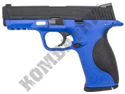 WE Big Bird M&P Toucan Airsoft Pistol Gas Blowback BB Gun Blue 2 Tone Metal Slide