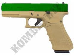 WE EU17 Airsoft Pistol Glock Gen 4 Replica Gas Blowback BB Gun Tan & 2 Tone
