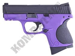 WE Little Bird M&P Toucan Gas Blowback Airsoft BB Gun 2 Tone Purple Black Metal Slide
