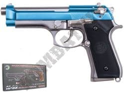 WE M92 Beretta Replica Airsoft Pistol Gas Blowback BB Gun Silver & 2 Tone Metal