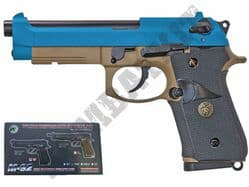 WE M9A1 Beretta Replica Airsoft Pistol CO2 Gas Blowback BB Gun Tan & 2 Tone Metal