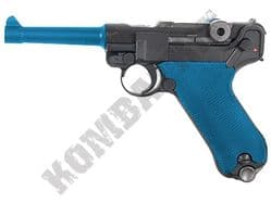 WE P08 BB Gun Luger Replica Gas Blowback Airsoft Pistol 2 Tone Colours 4 inch