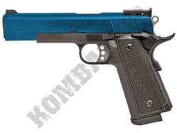 WE P14 Para 1911 Airsoft Pistol Gas Blowback BB Gun Black & 2 Tone Metal