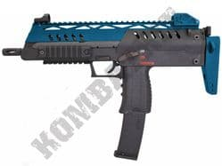 WE SMG 8 MP7A1 Replica Gas Blowback Airsoft BB Machine Gun 2 Tone Blue Black
