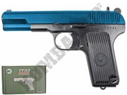 WE TT33 Tokarev Soviet Replica Pistol Gas Blowback Airsoft BB Gun Black 2 Tone Metal