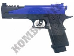 XK509 BB Gun Colt 1911 5.1 Dragon Replica Spring Pistol 2 Tone Blue Black
