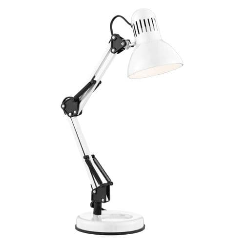 Desk Partners - Shiny White Hobby Table Lamp 2429Wh (Class 2 Double Insulated)