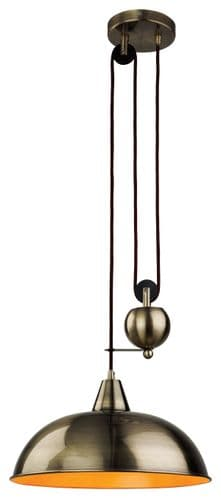 Firstlight 2309AB Antique Brass Century Rise & Fall Pendant