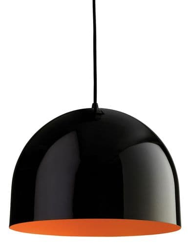 Firstlight 8624BKOR Black with Orange Inside House Pendant