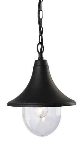 Firstlight 8670BK Black Die Cast Aluminium Station Lantern - Pendant