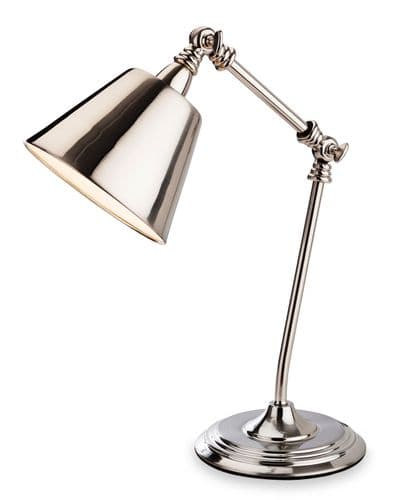 Clarion Table Lamp, Brushed Chrome, 4890BC