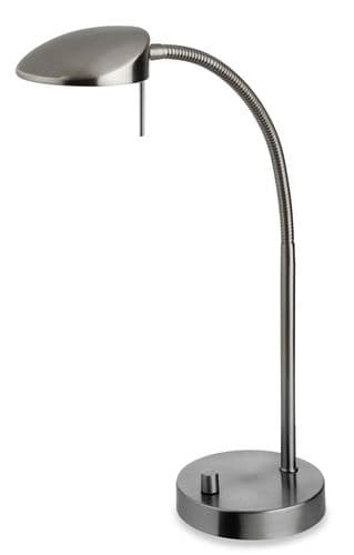 Milan LED Table Lamp, Brushed Steel, 4926BS