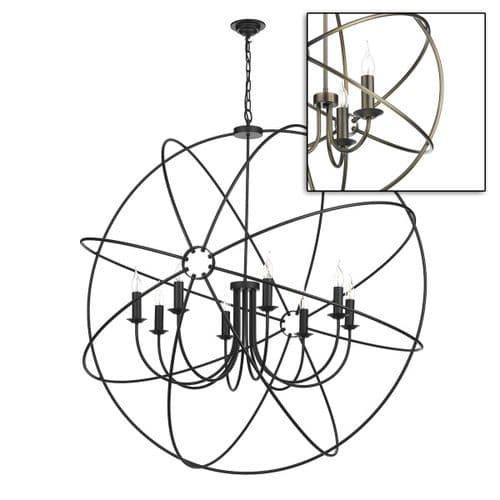 Orb 8 Light Pendant Antique Brass ORB0875 (7-10 day Delivery)