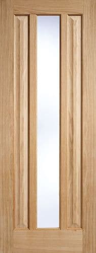 Kilburn Oak Clear Glazed Internal Door