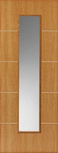 Louvre Oak paint Finish Glazed Internal Door